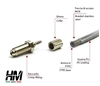 Picture of Coated stainless steel braided brake lines Suzuki Samurai and Sj Jap