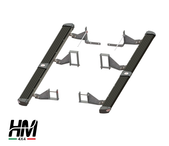 Side step protector black Toyota Hilux 16'-19'