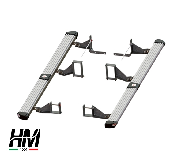 Side step protector silver Toyota Hilux 16'-19'
