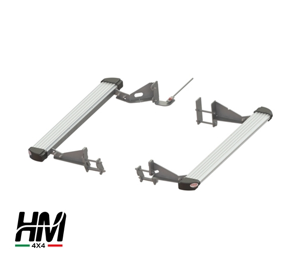 Side protection and steps silver Toyota LC 155 16'-19'
