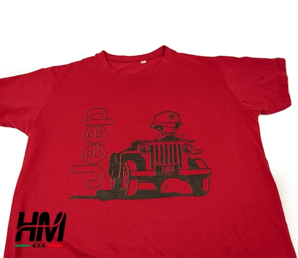 Maglietta Jeep - grafica soldato