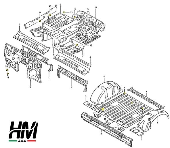 Picture of Suzuki Samurai and Sj floor hole rubber caps plugs kit