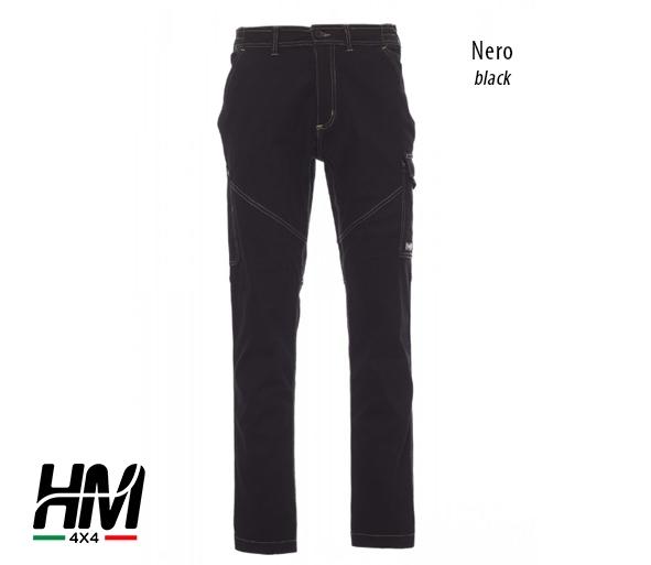 Pantalone stretch con logo HM4X4 ricamato