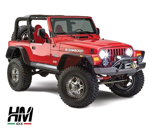 jeep tj parafanghi bushwacker flat style