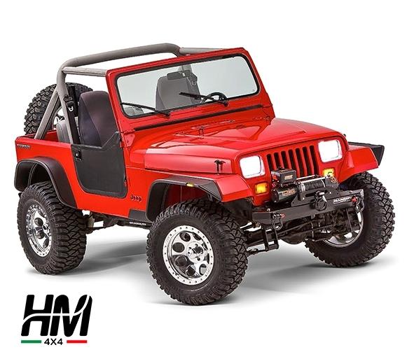 parafanghi bushwacker flat style jeep yj