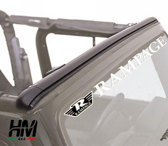Canalina parabrezza soft top Jeep TJ