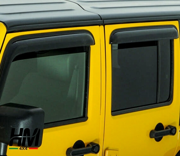 deflettore finestrino jeep wrangler jk unlimited 4 porte